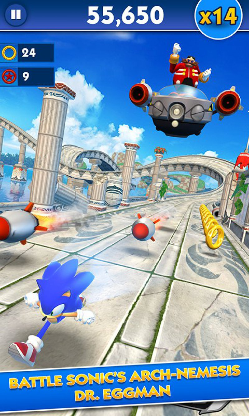 Sonic Dash-12 Best Jumping Games For IOS And Android