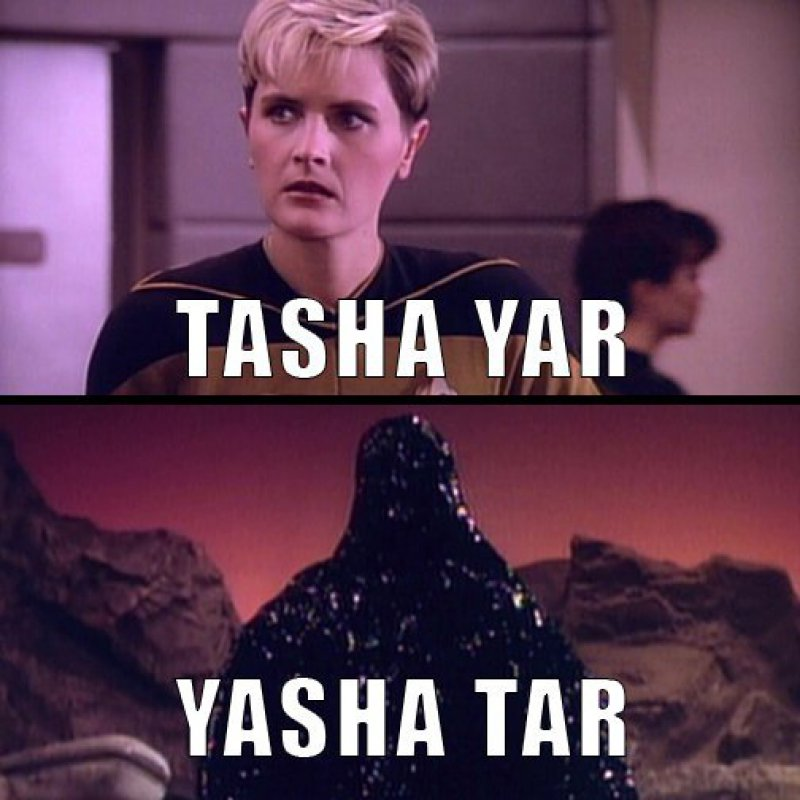 Tasha Yar - Yasha Tar-12 Funny Star Trek Memes That Are Make Your Day