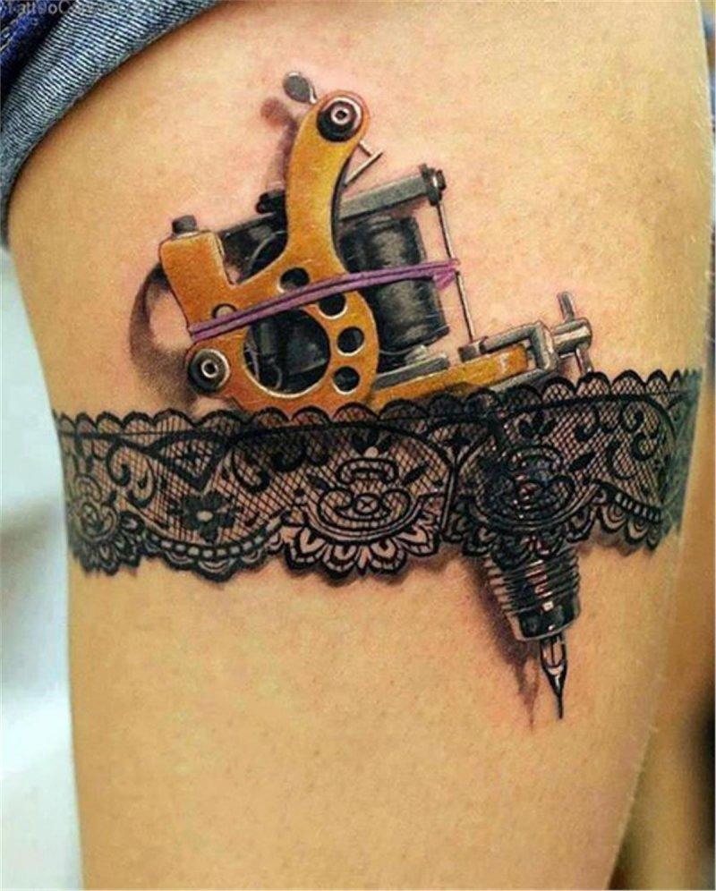 Tattoo Gun 3D Tattoo-15 Fantastic Three Dimensional Tattoos That Will Blow Your Mind