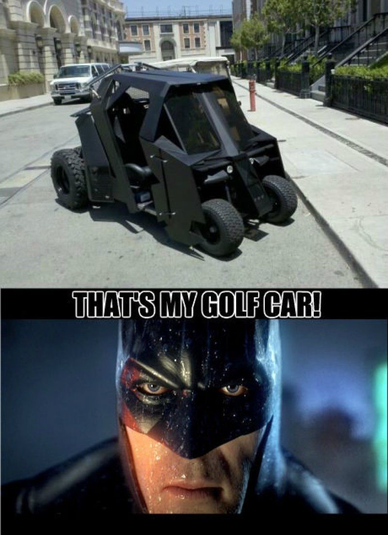 That's My Golf Car!-12 Funny Batman Memes That Will Make You Lol