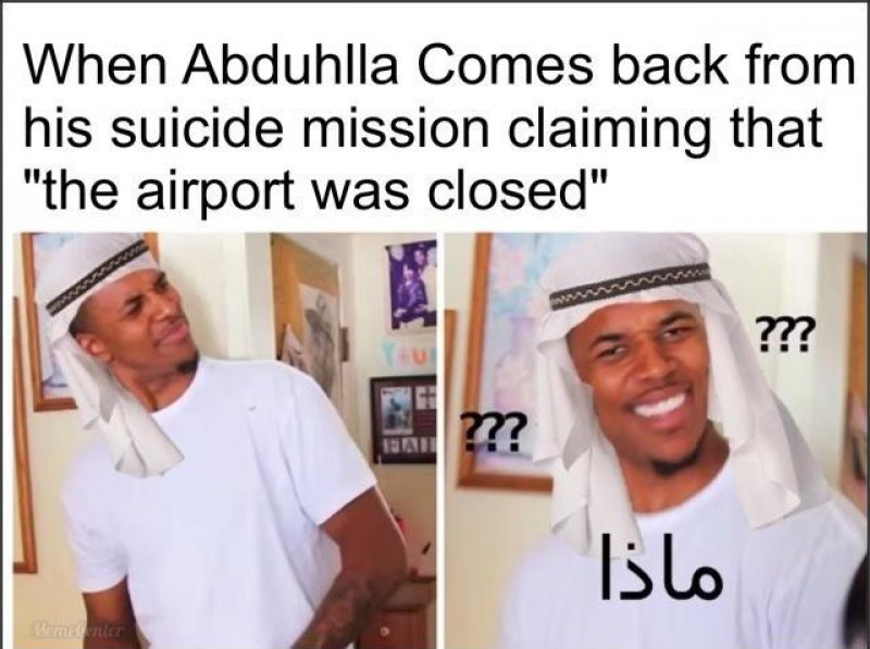 The Airport Was Closed!-12 Hilarious Confused Black Guy Memes