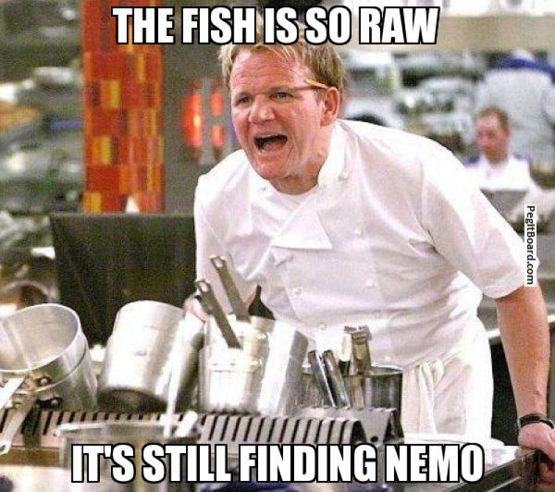 The Fish Is So Raw-12 Hilarious Gordon Ramsay Memes That Will Make You Cry