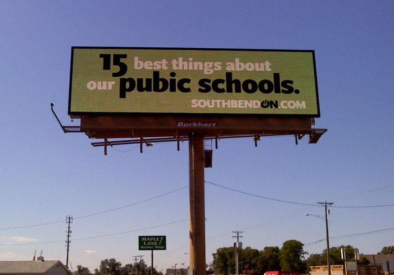 The New Pubic School Should Delight Pupils-12 Funniest Typos Ever Made