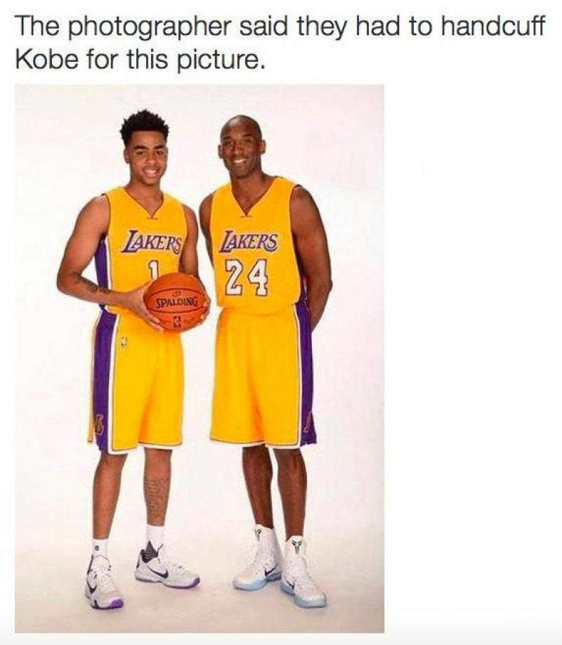 The Photographer Said They Had To Handcuff Kobe For This Picture! -12 Funny NBA Memes That Will Make Your Day