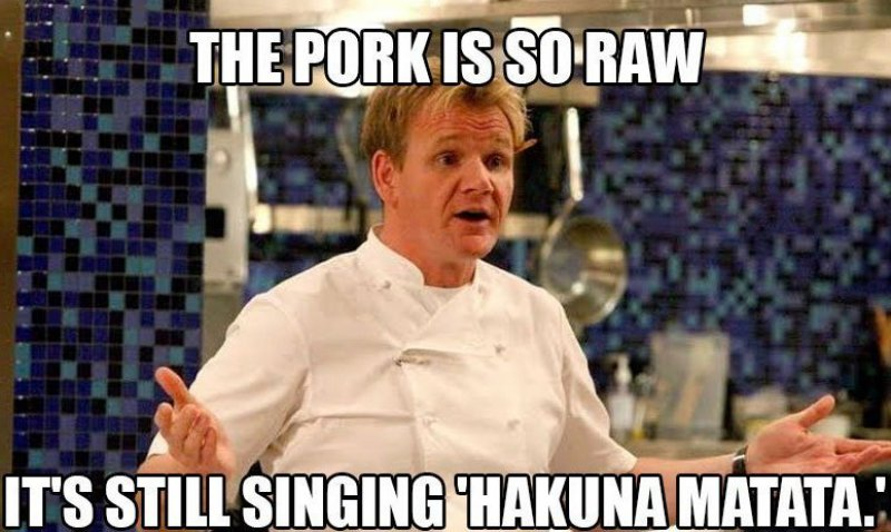The Pork Is So Raw-12 Hilarious Gordon Ramsay Memes That Will Make You Cry