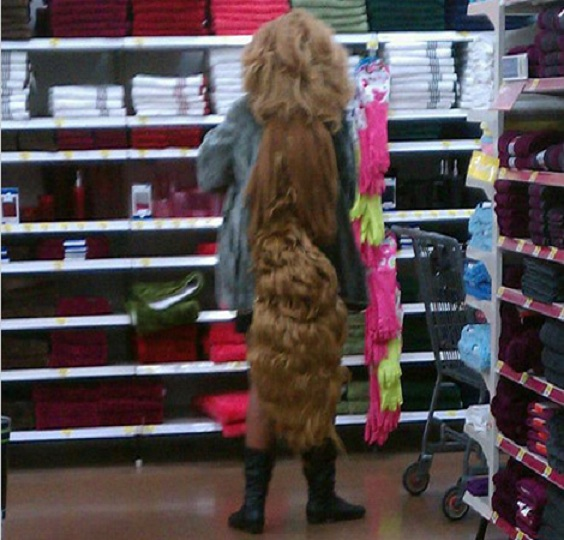 The Hair-15 Hilarious Walmart Pictures That Will Make You Say WTF!!