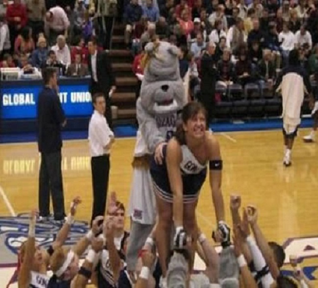 The mascot-Top 15 Cheerleading Fails That Will Make You Lol