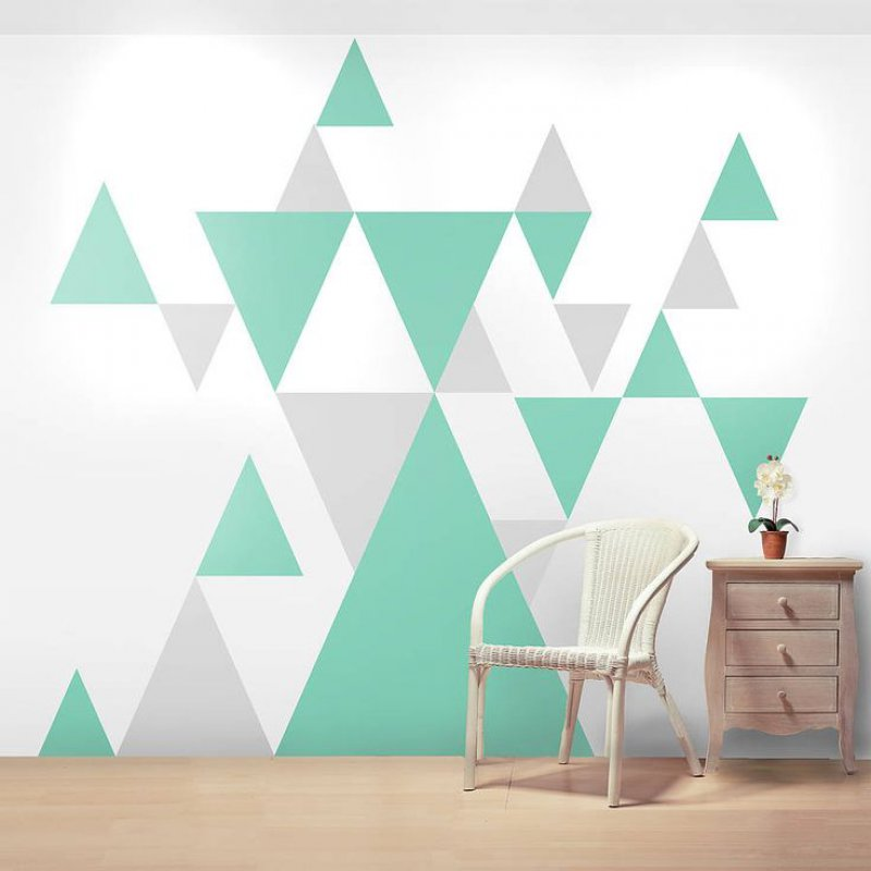 These Colorful Triangles-12 Cool Patterns For Walls That Are Awesome