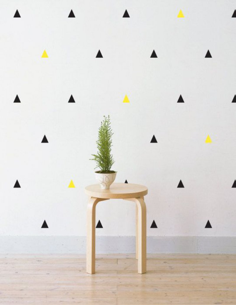 These Tiny Triangles-12 Cool Patterns For Walls That Are Awesome