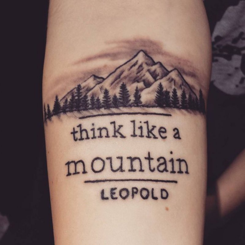 Think Like A Mountain!-12 Impressive And Inspiring Mountain Tattoos