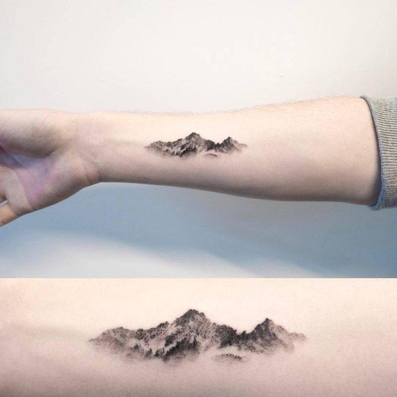 This Beautiful Arm Tattoo-12 Impressive And Inspiring Mountain Tattoos