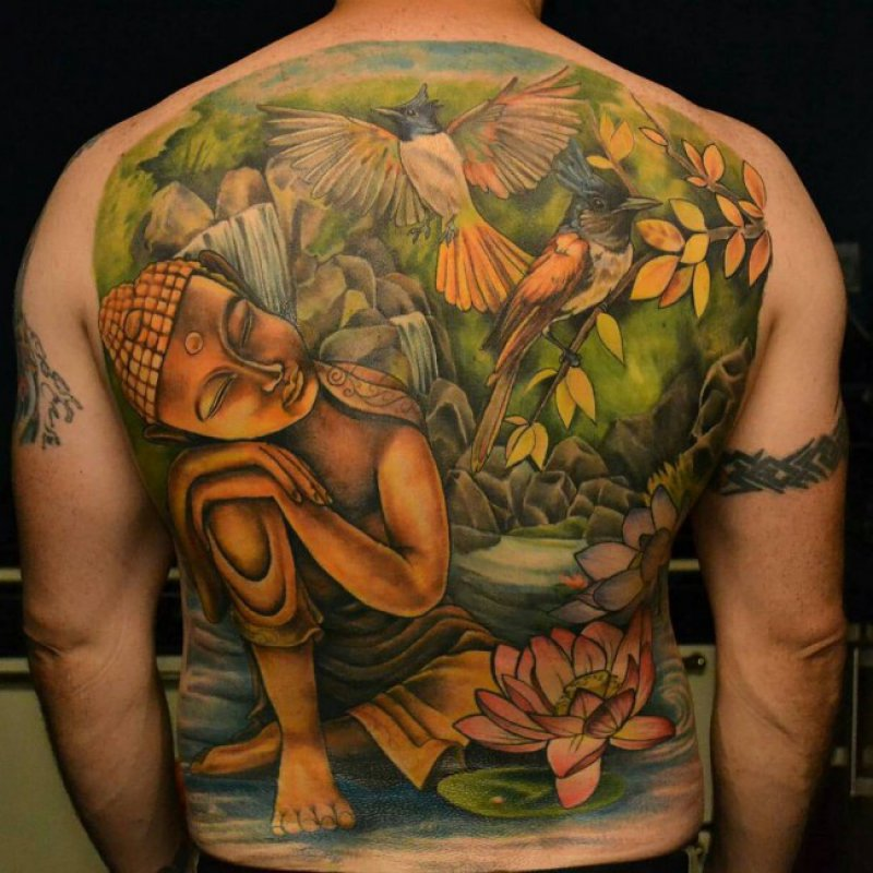 This Colorful And Wonderful Buddhist Tattoo-12 Amazing Buddha Tattoos That Will Make You Say I Want One