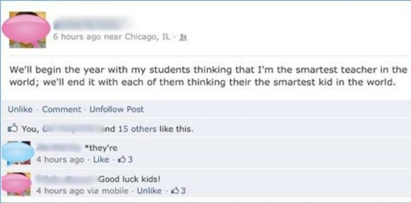 This Facebook Grammar Fail-15 Teachers And Their Epic Facebook Fails