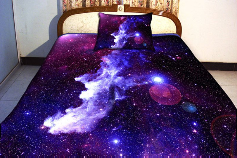 This Galaxy Bed Sheet-15 Most Insane Bed Sheets That Will Make You Say WTF!