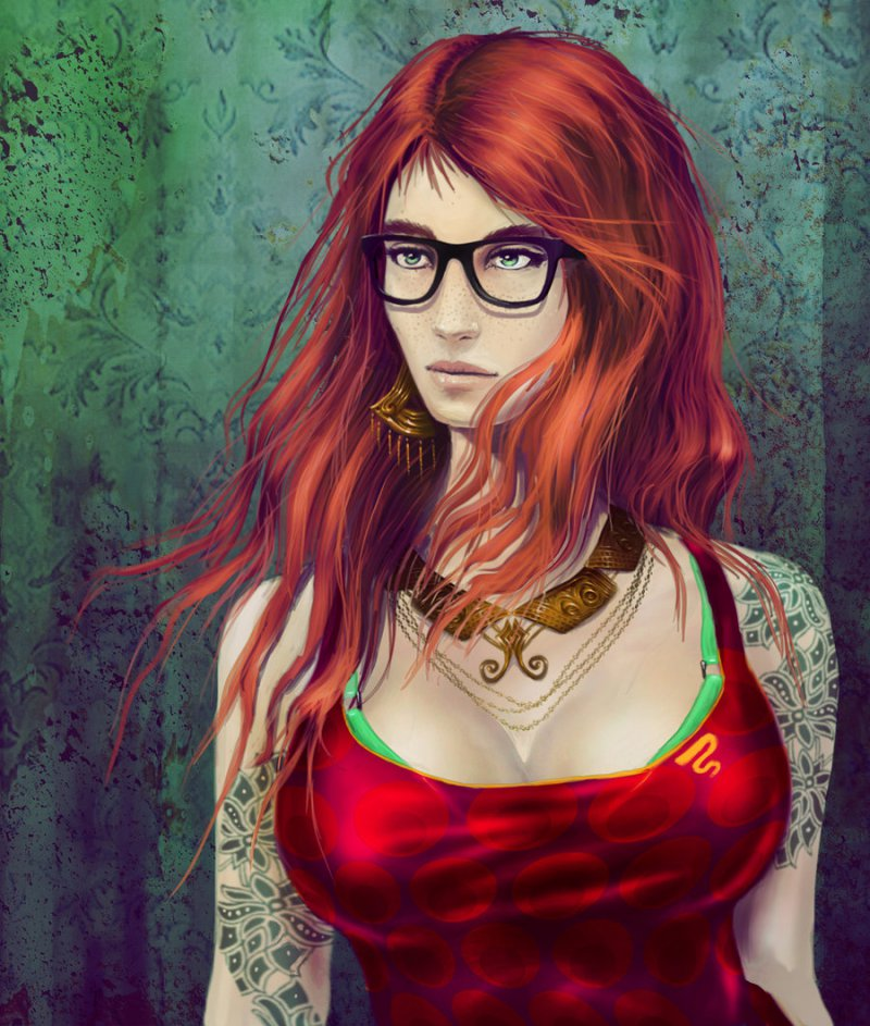 This Hippy Girl-12 Amazing Hipster Art Pictures You Must See If You're A Hippy
