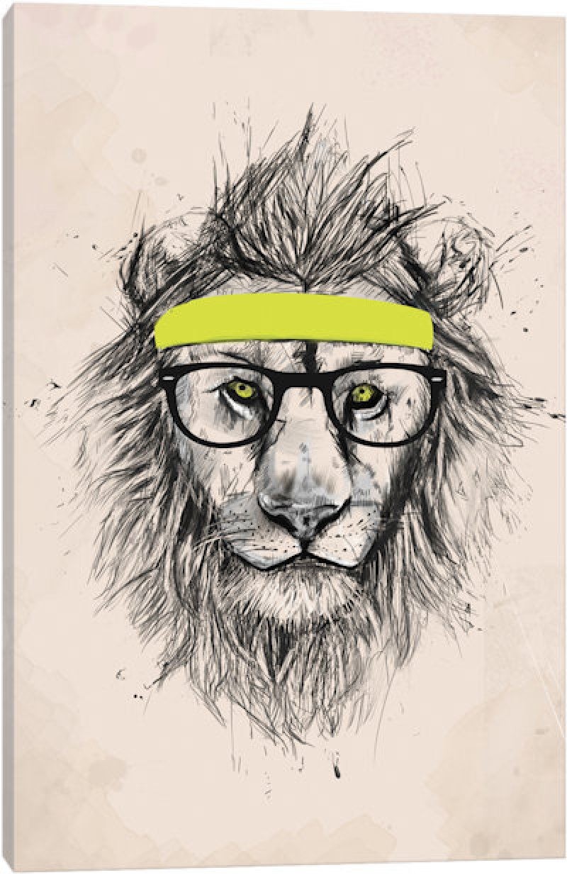 This Hipster Lion-12 Amazing Hipster Art Pictures You Must See If You're A Hippy