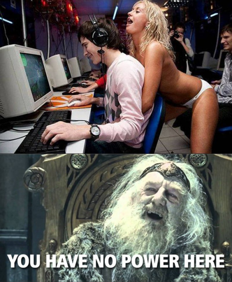 This Hot Girl And Gamer Guy-12 Funny You Have No Power Here Memes