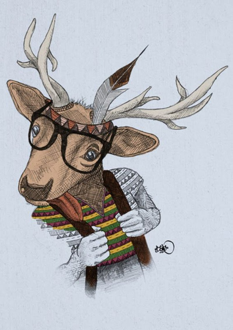 This Human-Deer Art-12 Amazing Hipster Art Pictures You Must See If You're A Hippy
