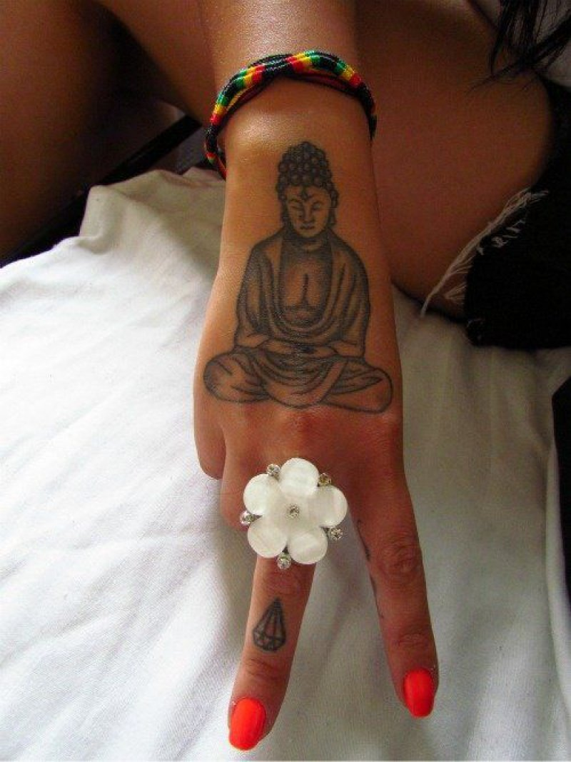 This Minimalistic Buddha Tattoo On Wrist-12 Amazing Buddha Tattoos That Will Make You Say I Want One