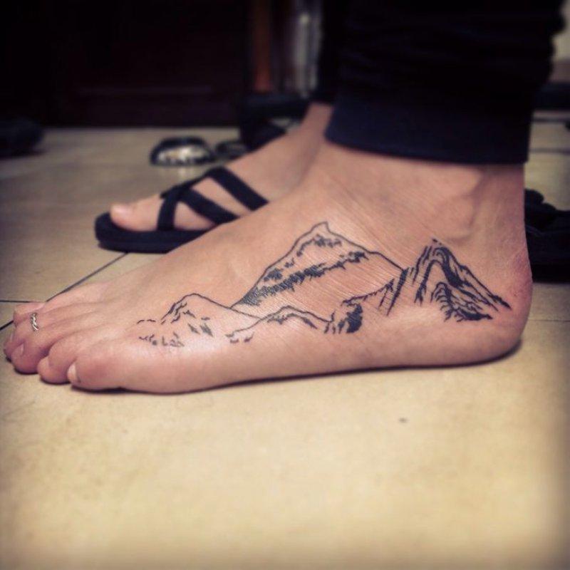This Mountain Foot Tattoo-12 Impressive And Inspiring Mountain Tattoos