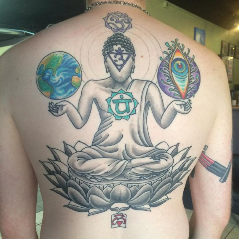 This Weird But Wonderful Buddha Tattoo-12 Amazing Buddha Tattoos That Will Make You Say I Want One