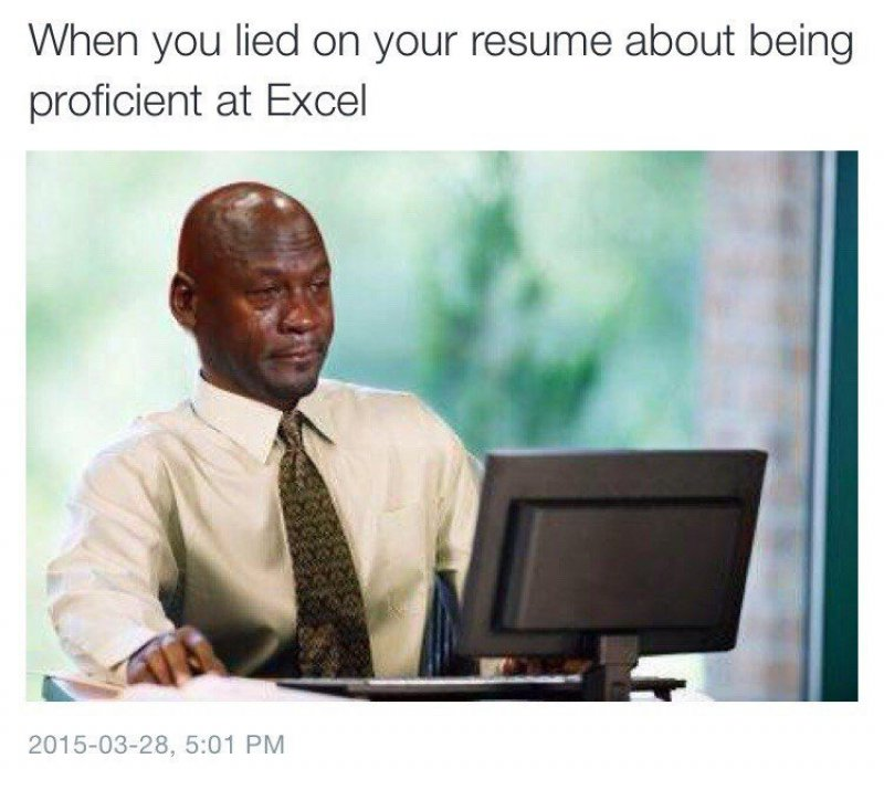 Those Resume Lies!-12 Hilarious Crying Memes That Will Make You Cry Then Laugh
