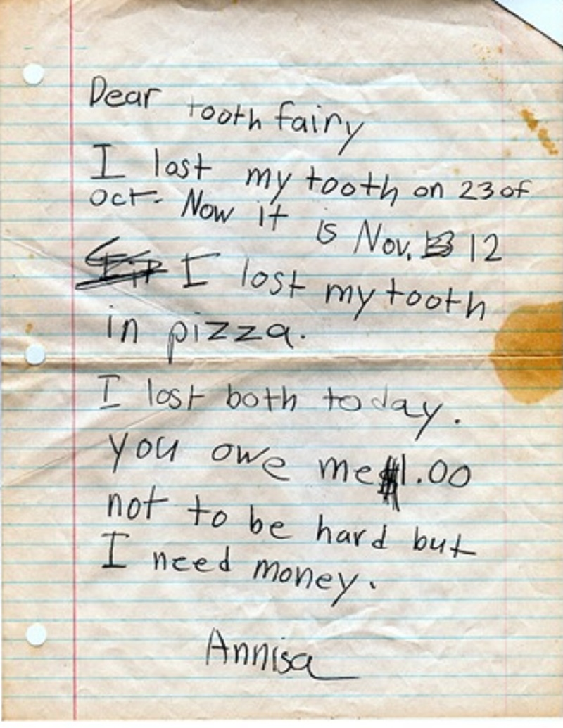Tooth Fairy Apology-12 Hilarious Apology Notes Ever