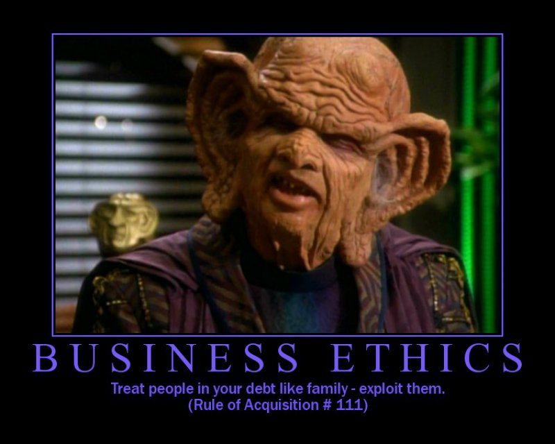 Treat People In Debt Like Your Family - Exploit Them!-12 Funny Star Trek Memes That Are Make Your Day