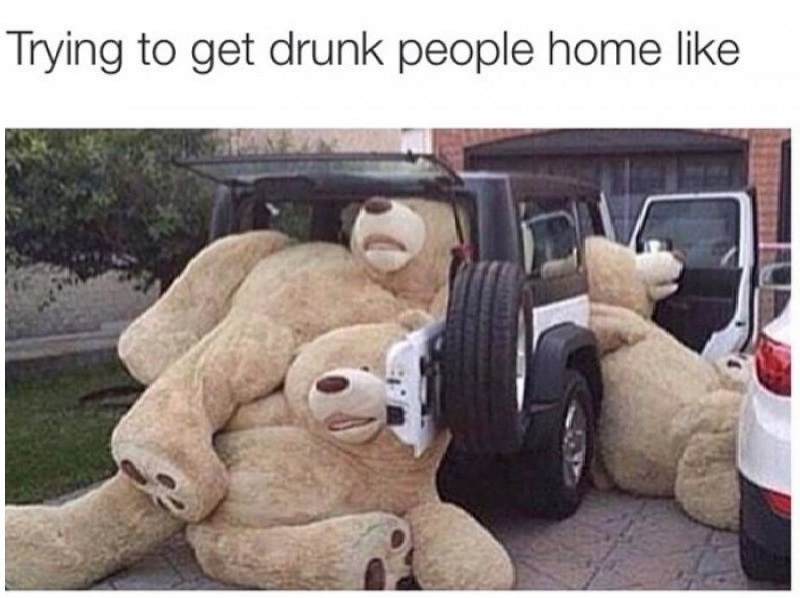 Trying To Get Drunk People Home!-12 Hilarious Drinking Memes That Are Sure To Make You Laugh