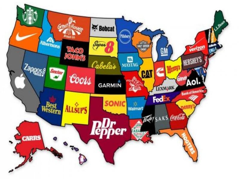 United States Of Products-12 Funny Maps You Won't See In School