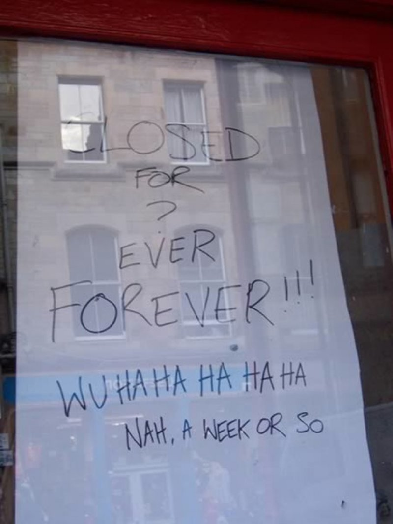 Very Funny. Not!-12 Hilarious Closed Signs That Will Make You Lol