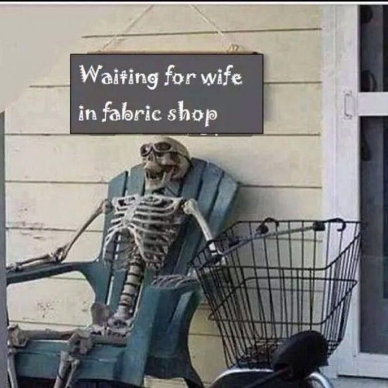 Waiting For Wife In A Cloth Store!-12 Funny Waiting Skeleton Memes
