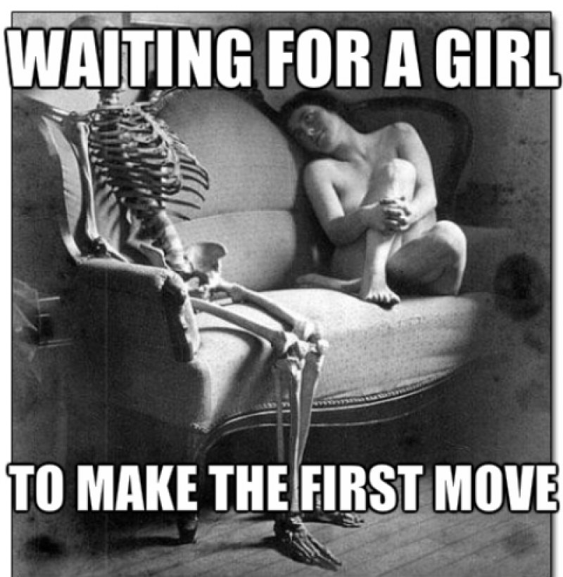Waiting For A Girl To Make The First Move!-12 Funny Waiting Skeleton Memes