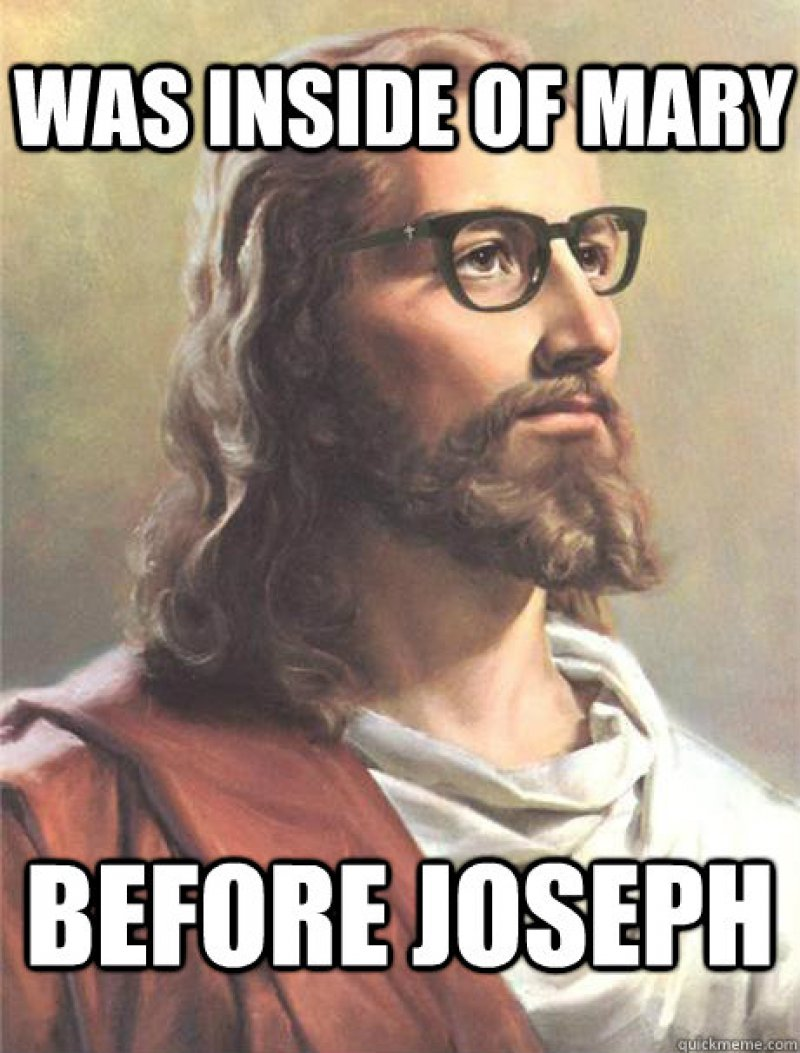Was Inside Of Mary Before Jesus!-12 Funny Jesus Memes That Will Make You Lol