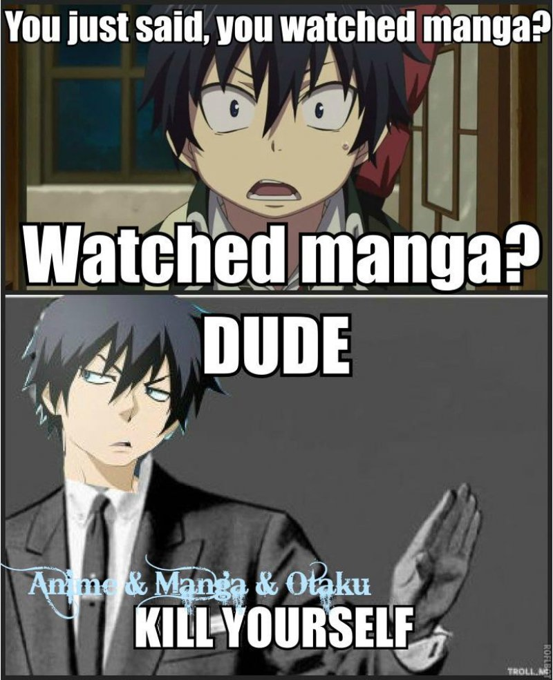 Watched Manga?-12 Funny Anime Memes That Are Sure To Make You Warai