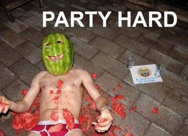 Watermelon Man-12 Embarrassing Pictures Of Drunk People