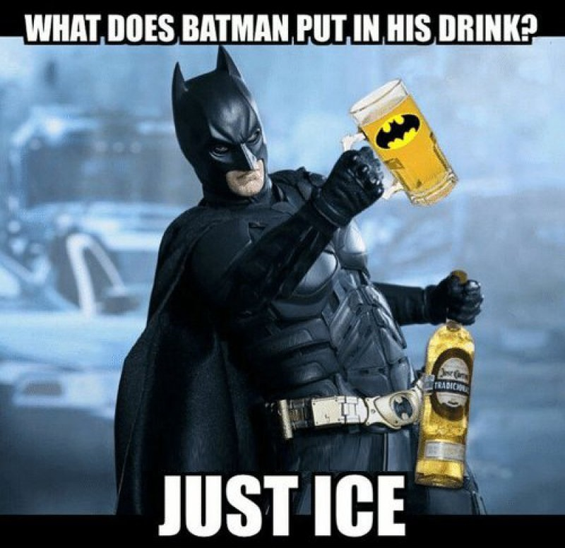What Does Batman Put In His Drink?-12 Funny Batman Memes That Will Make You Lol