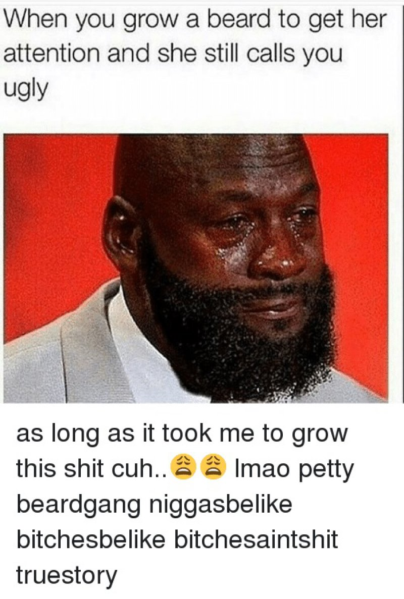 When You Grow A Beard To Grab Her Attention-12 Funny Beard Memes That Will Make You Lol