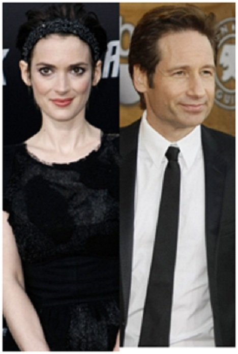 Winona Ryder And David Duchovny-Shocking Celebrity Couples You Never Thought Will Be Together