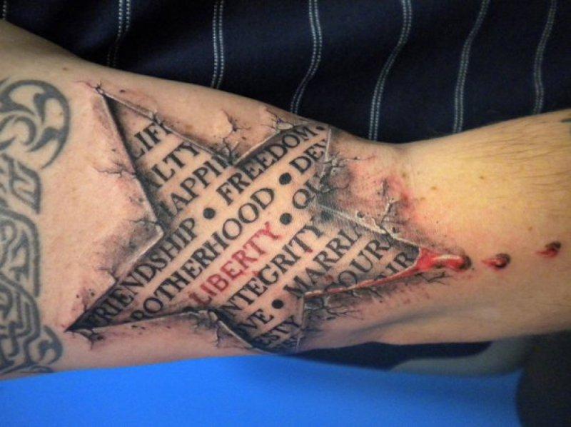 Words 3D Tattoo-15 Fantastic Three Dimensional Tattoos That Will Blow Your Mind