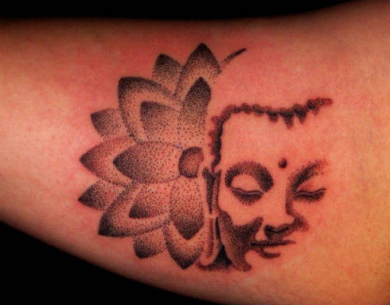 Yet Another Minimalistic Buddha Tattoo-12 Amazing Buddha Tattoos That Will Make You Say I Want One