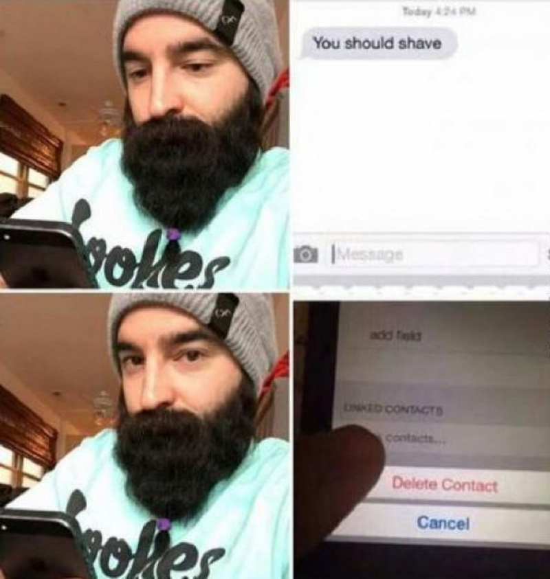 You Should Shave!-12 Funny Beard Memes That Will Make You Lol