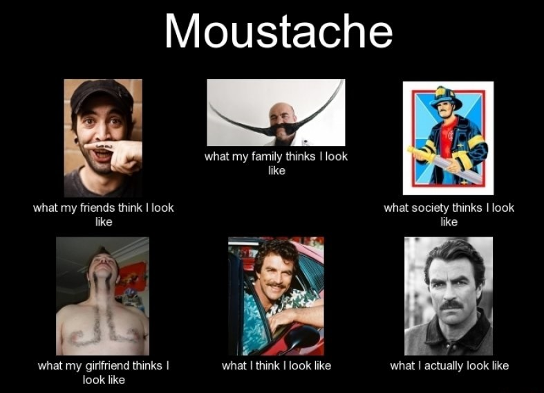 Living With a Mustache-15 Hilarious Differences Between What Your Girlfriend Thinks And Reality