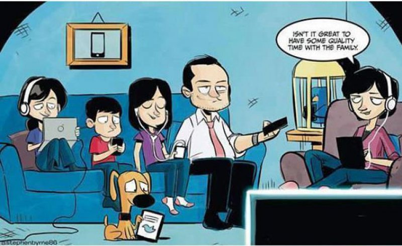 The Modern Day Family-15 Comics That Show How Smartphones Have Ruined Our Lives