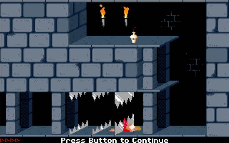 This Part of Prince of Persia DOS game-15 Struggles That Will Give You Nostalgia If You Are A 90's Kid