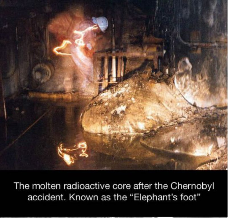 Chernobyl's 'Elephant's Foot'-15 Historical Pictures That Are Really Shocking