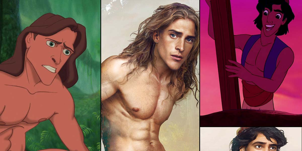 15 Real life illustrations of Disney Characters