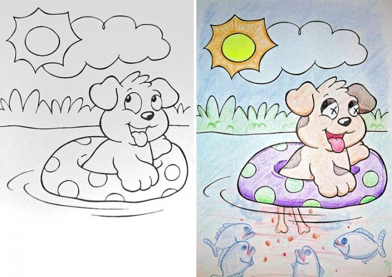 Is the Dog dead?-15 Drawings That Show Dads Should Stay Away From Children's Coloring Books