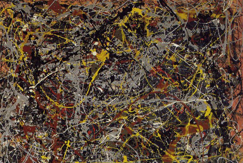 No. 5, 1948 by Jackson Pollock (8.1 Million)-15 Ridiculous Paintings Sold For Millions Of Dollars
