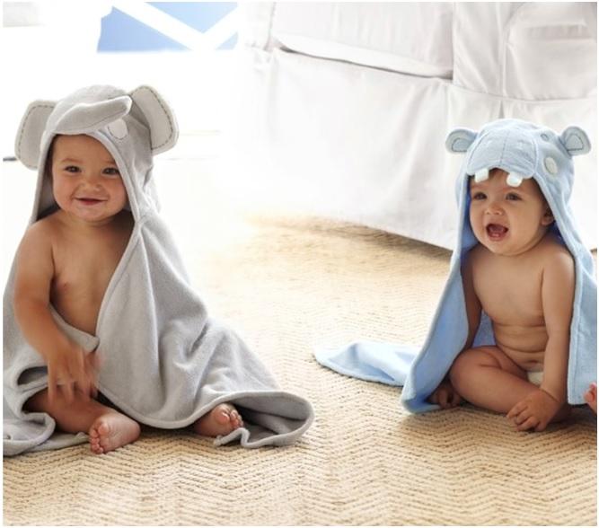 Potterybarn Nursery Critter Wraps $29.50-Best Newborn Girl Gifts 2015